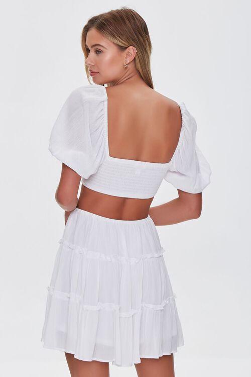 WHITE Cutout Mini Dress, image 3