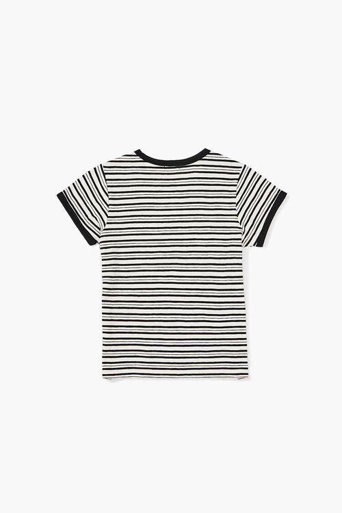 BLACK/WHITE Girls Striped Ringer Tee (Kids), image 2