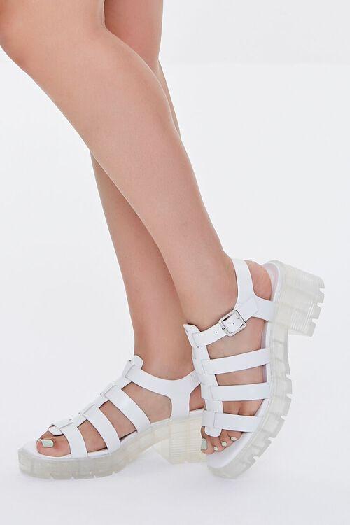 Caged Flatform Block Heels, image 1
