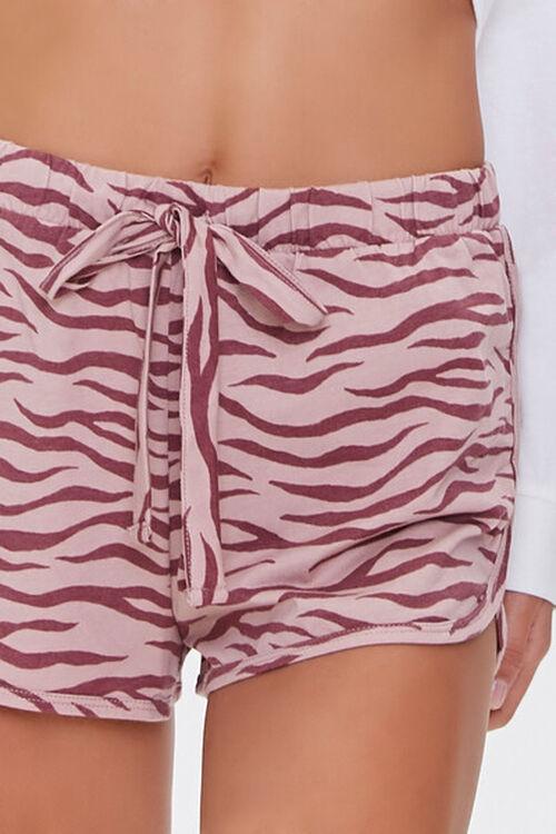 Tiger Striped Print Lounge Shorts, image 5