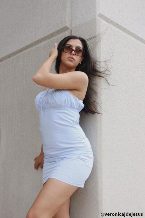 Bodycon Shirred Mini Dress, image 1