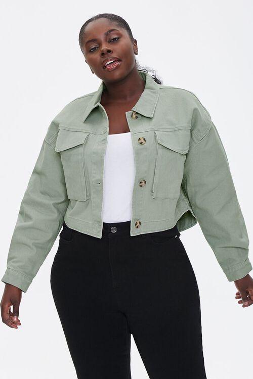 Plus Size Layered Cotton Jacket, image 1
