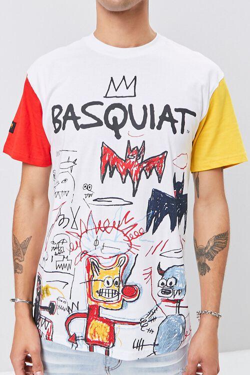 WHITE/MULTI Jean-Michel Basquiat Graphic Tee, image 6
