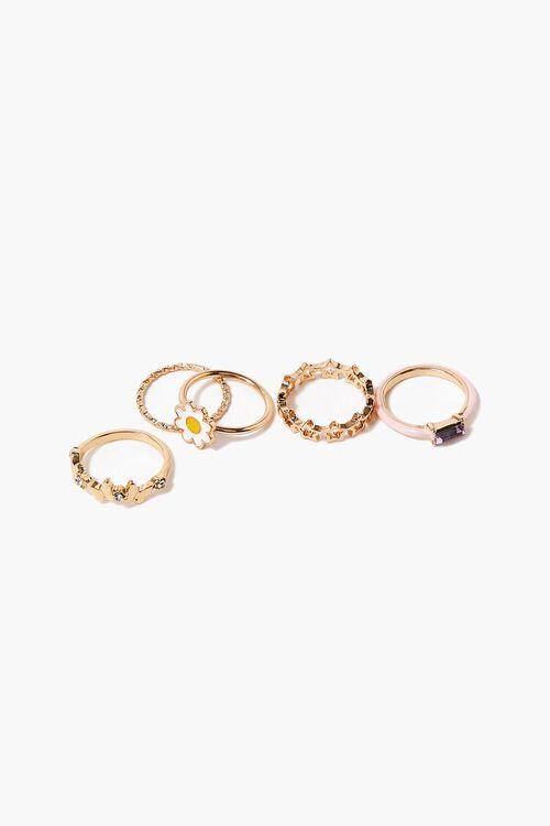 Faux Gem Variety Ring Set, image 1