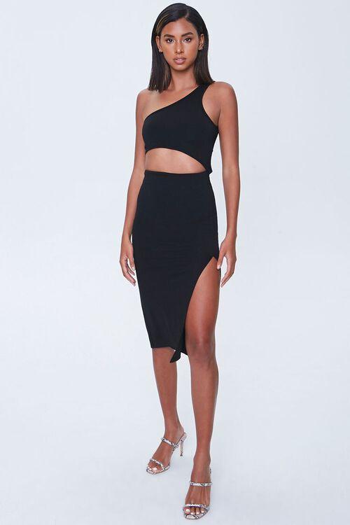 Cutout One-Shoulder Dress, image 4