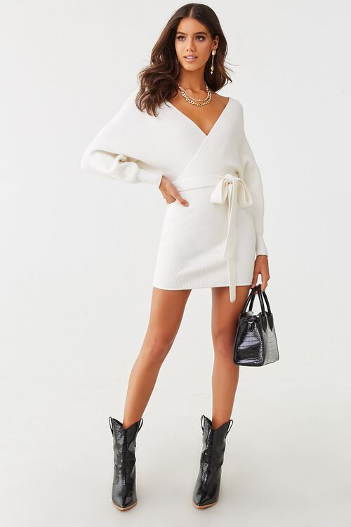 Faux Wrap Mini Dress, image 4