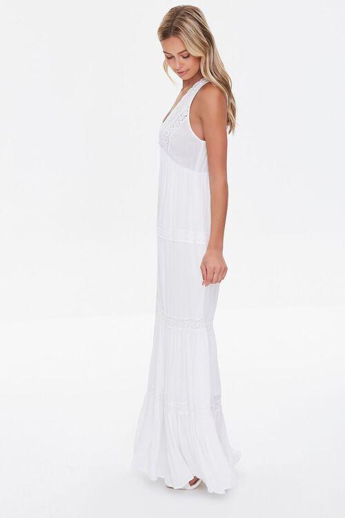 Plunging Lace-Trim Maxi Dress, image 2