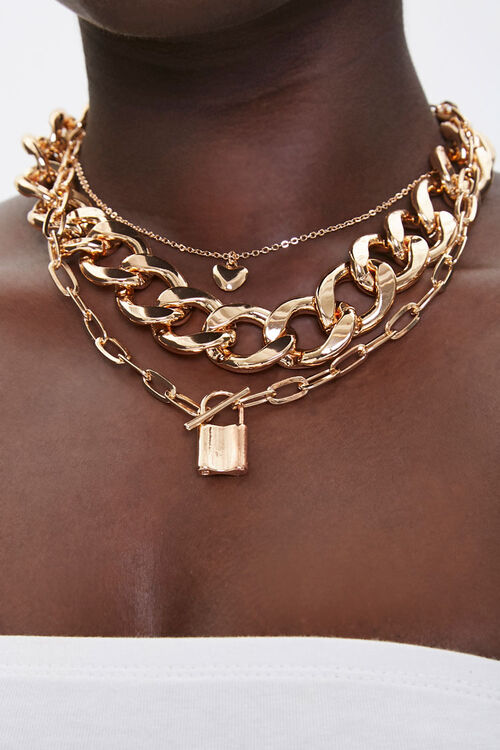 Layered Chain Choker Necklace, image 1