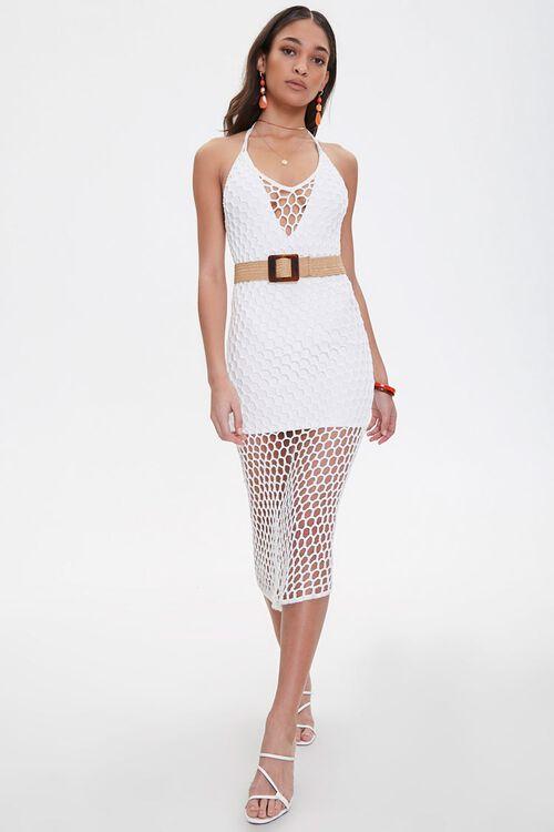 Open-Crochet Halter Dress, image 4