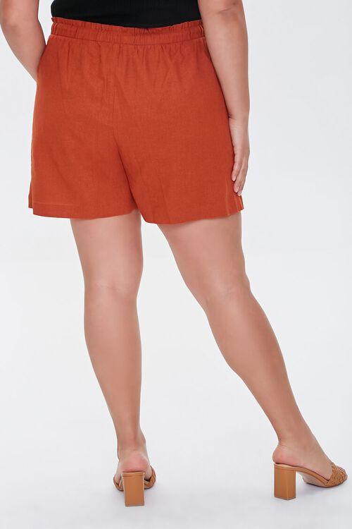 Plus Size Linen Paperbag Shorts, image 4