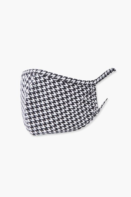 Houndstooth Print Face Mask, image 2