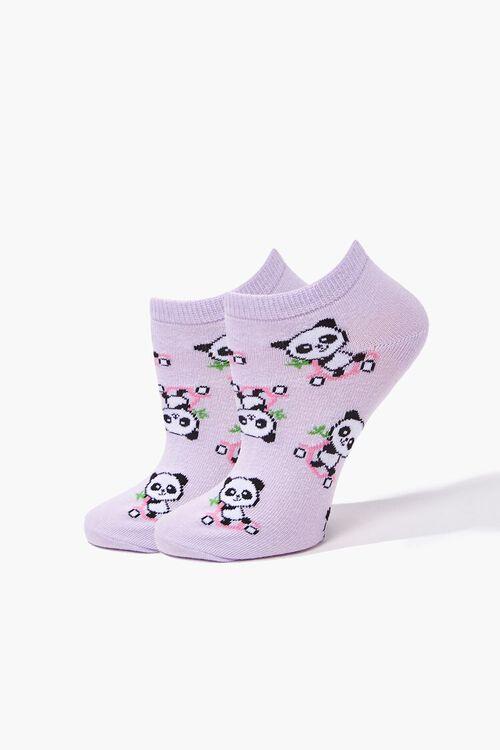 Panda Print Ankle Socks, image 1