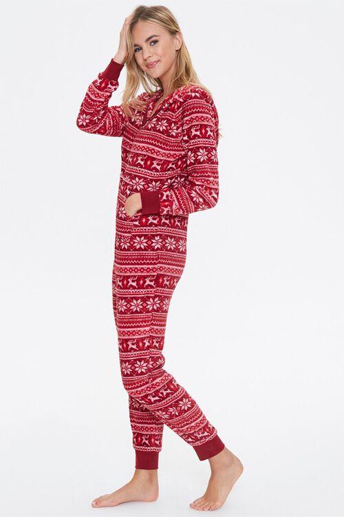 Fair Isle Hooded Pajama Jumpsuit, image 2