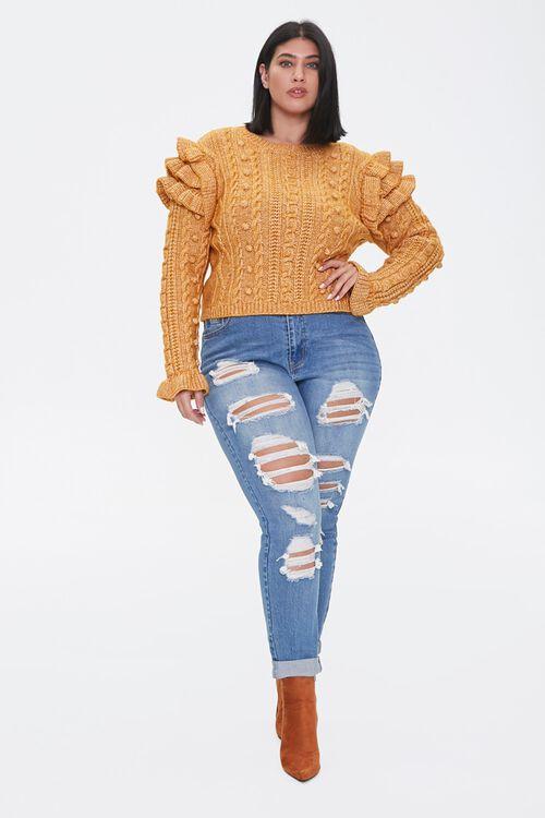 Plus Size Ruffled-Sleeve Sweater, image 4
