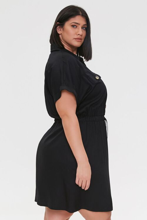 Plus Size Tie-Waist Shirt Dress, image 2