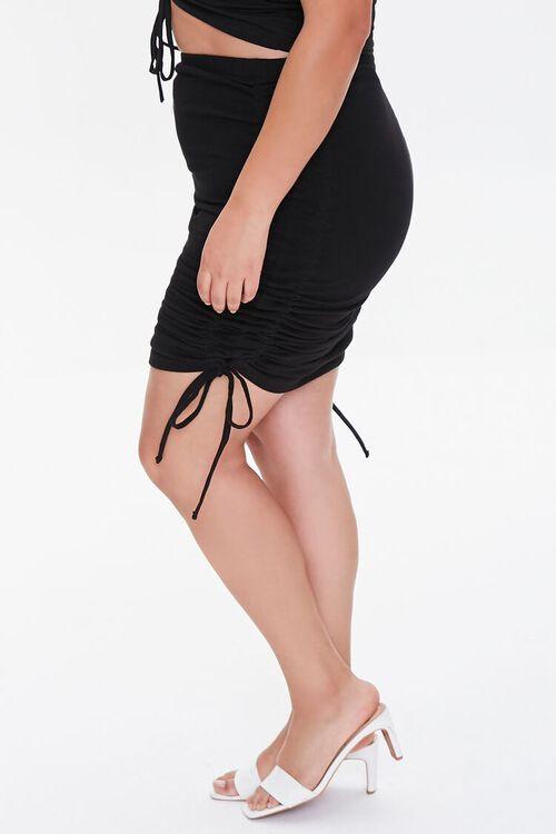 Plus Size Ruched Mini Skirt, image 3