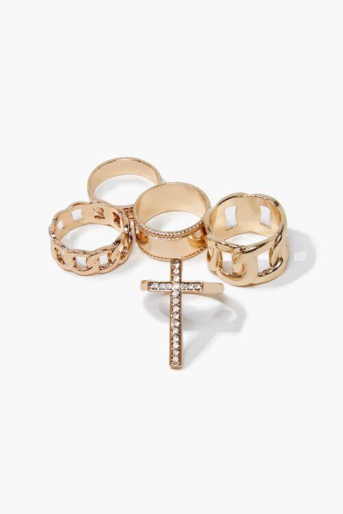 Cross Charm Ring Set, image 1