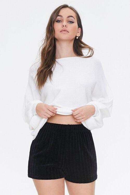 Chenille Pajama Shorts, image 1