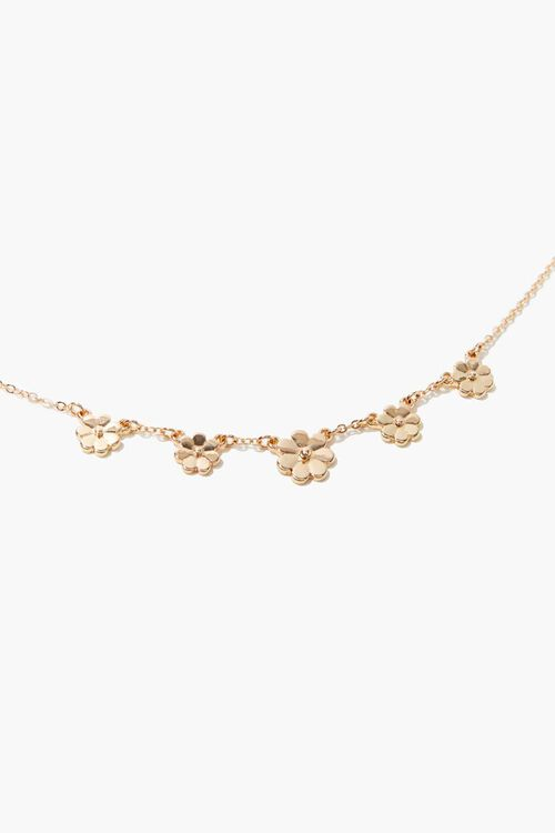 GOLD Daisy Charm Anklet, image 1