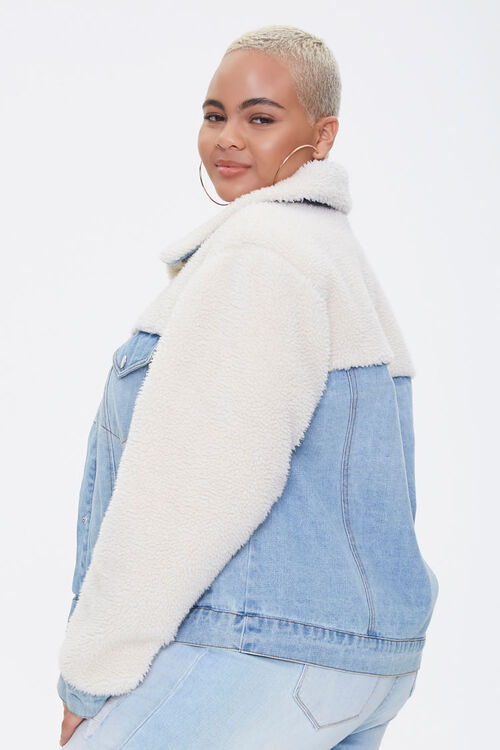 Plus Size Denim Combo Jacket, image 2