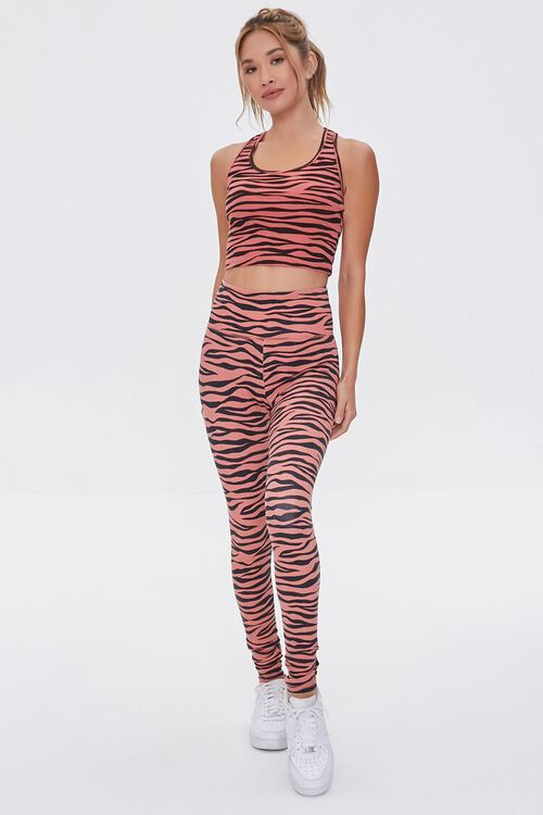 Active Tiger Striped Leggings, image 1