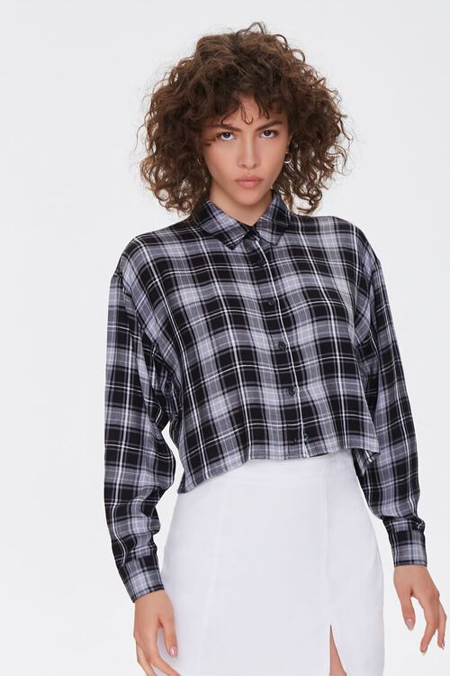 Boxy Plaid Shirt, image 1