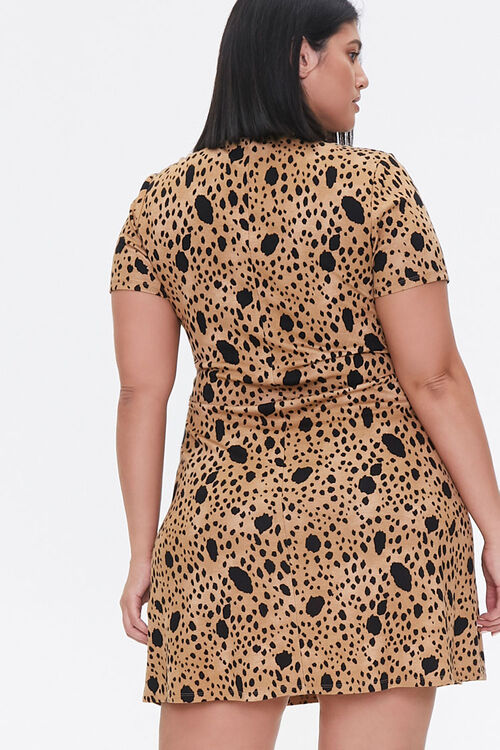 Plus Size Spotted Bodycon Dress, image 3