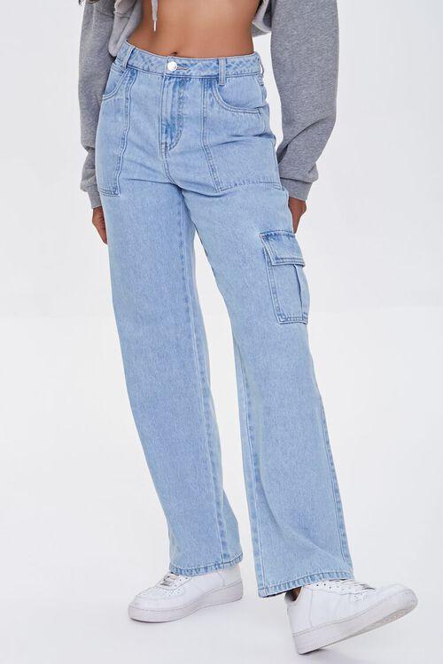 Straight-Leg Cargo Jeans, image 2