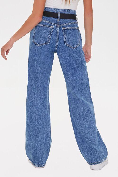MEDIUM DENIM High-Rise Straight Jeans, image 4