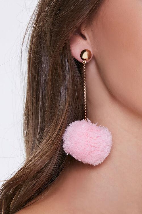 Pom Pom Drop-Chain Earrings, image 1