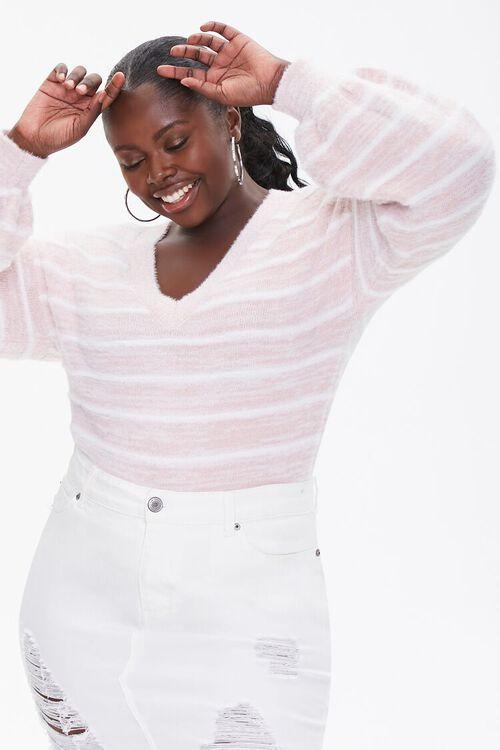 Plus Size Striped Sweater, image 1