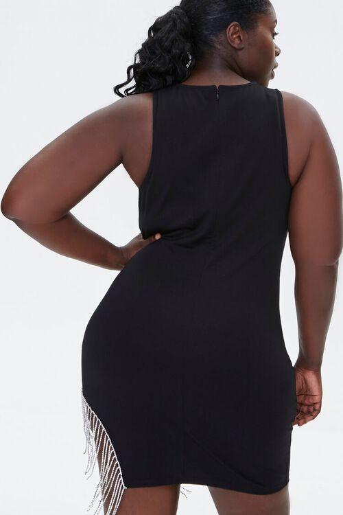 Plus Size Rhinestone Fringe Dress, image 3