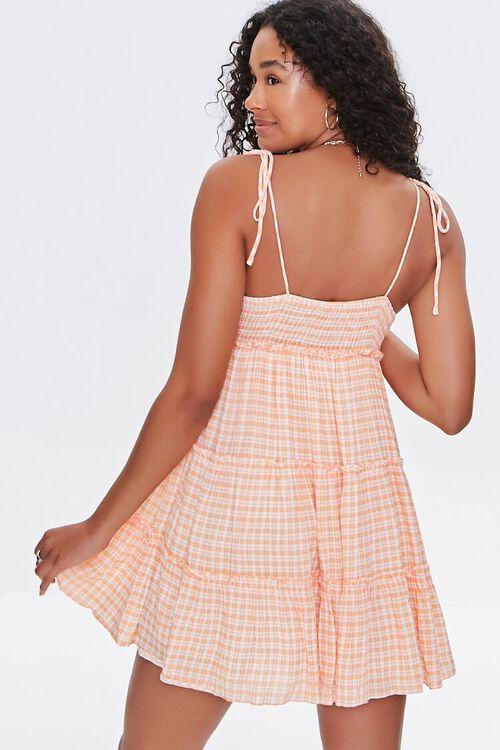 Gingham Tiered Cami Mini Dress, image 3