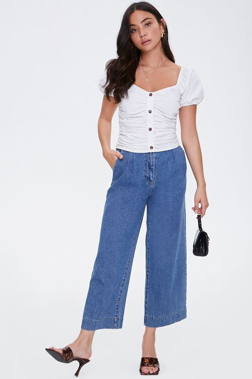 Ruched Puff Sleeve Top, image 4