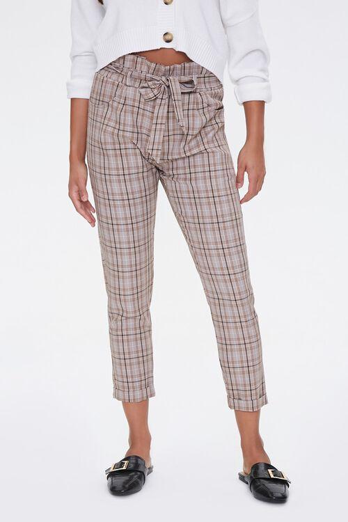Plaid Paperbag Pants, image 1