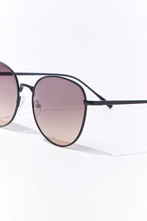BLACK/BLACK Round Tinted Sunglasses, image 3