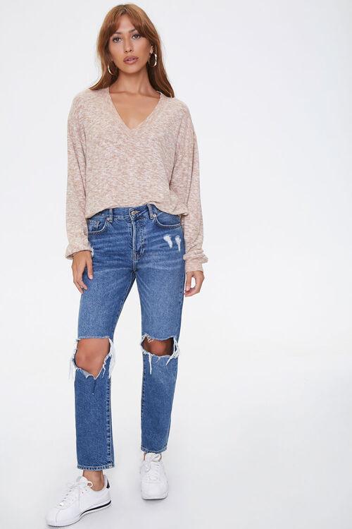 Marled Drop-Sleeve Sweater, image 4