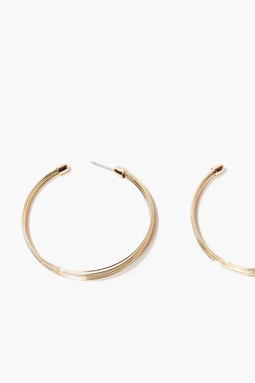 GOLD Textured Hoop Earrings, image 2
