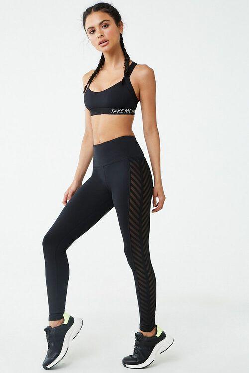 Medium Impact - Take Me Higher Graphic Knit Sports Bra, image 4