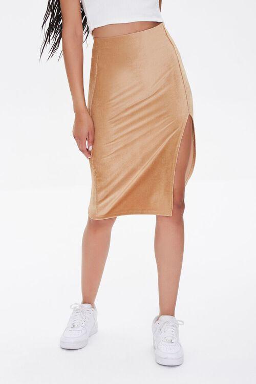 Leg-Slit Pencil Skirt, image 2