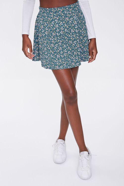Floral Skater Skirt, image 2