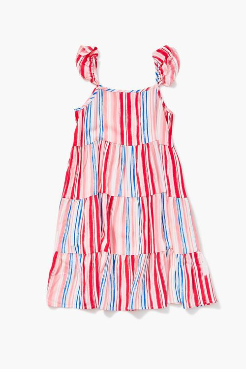 Girls Striped Tiered Dress (Kids), image 2
