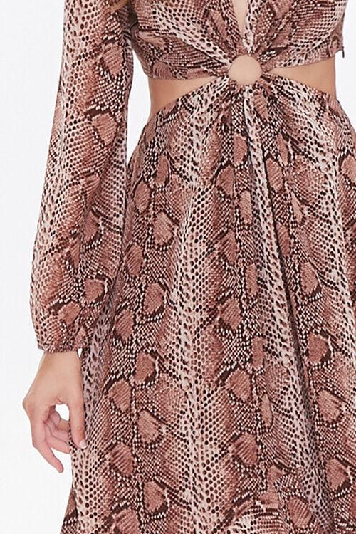 Snakeskin Print Cutout Dress, image 5