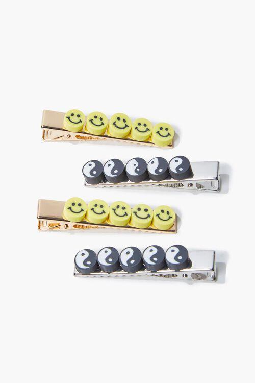 Happy & Yin Yang Charm Gator Clip Set, image 2