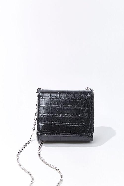 Mini Faux Croc Leather Crossbody Bag, image 1