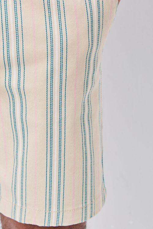 Striped Print Drawstring Shorts, image 6