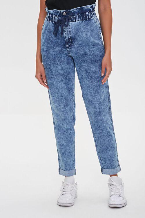MEDIUM DENIM Paperbag Drawstring Jeans, image 2