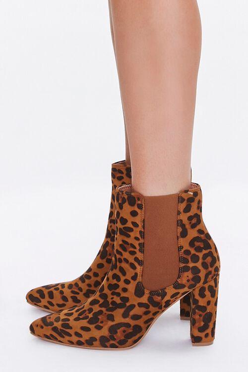 Leopard Print Block Heel Chelsea Boots, image 2