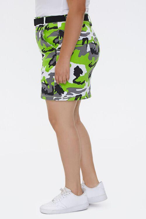 Plus Size Camo Print Mini Skirt, image 2