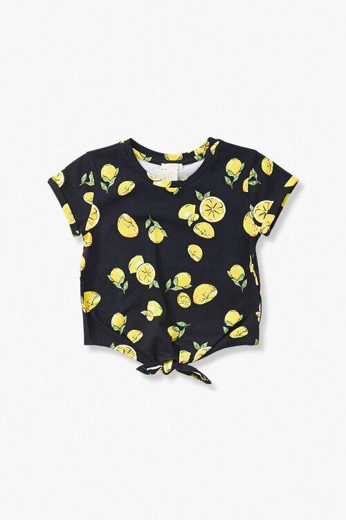 Girls Lemon Print Tee (Kids), image 1